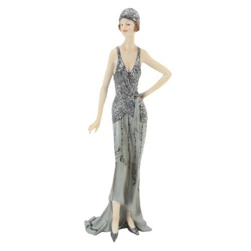 Art Deco Lady Figurine Midnight Shimmer Broadway Belles by Juliana - Carolyn 60747